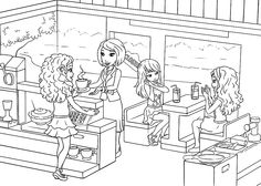 lego friends sitting coloring page for kids lego pinterest