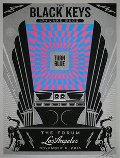 The Black Keys LA concert poster | Shepard Fairey