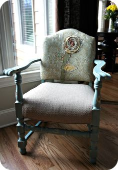 a fun take on an antique chair