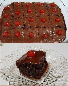 Νηστίσιμο σοκολατένιο σιροπιαστό κέικ με γλάσσο μερέντας !!! ~ ΜΑΓΕΙΡΙΚΗ ΚΑΙ ΣΥΝΤΑΓΕΣ 2 Greek Sweets, Greek Desserts, No Bake Desserts, Nutella Brownies, Brownie Cake, Sweet Recipes, Cake Recipes, Dessert Recipes, Cooking Cake