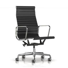 Study: Herman Miller Eames Aluminum Group Executive Chair, Black Leather