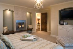 56 Clean and modern showcase fireplace designs raised wood hearth