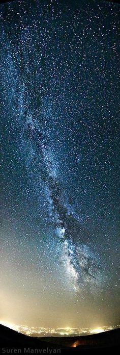 taken from Aragats mountain in 3000 m above sea level, Armenia. Astronomy by Suren Manvelyan, via Behance #Astronomy