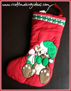 Handmade Quilted Christmas Stockings, quilted to bring the design to life. Quilted Christmas Stockings, Red Colour, Crafts To Make, Making Ideas, Photograph, Note, 3d, Create, Holiday Decor