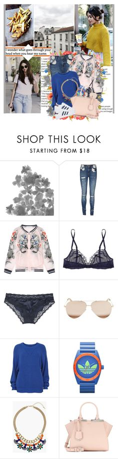"""No matter how far you're always on my mind I don't know where you are"" by winfreda ❤ liked on Polyvore featuring Shades of Grey by Micah Cohen, Vero Moda, WithChic, Rituel by Carine Gilson, STELLA McCARTNEY, Victoria Beckham, VILA, adidas, Topshop and Fendi"