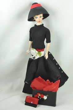 """Handmade Vintage Barbie/Silkstone Clothes by P.Linden 9pc""""Shopping with Friends"""""""