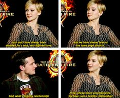 25.When they agreed that their relationship is perfect and healthy and they totally get each other. | 27 Times Jennifer Lawrence and Josh Hutcherson Proved They Have The Best Offscreen Relationship Ever