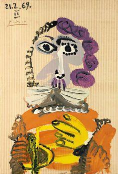 Pablo Picasso - Buste d'homme, 1969.