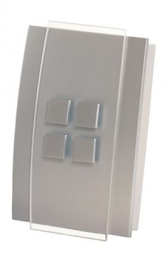 Honeywell - Decor Design Wired Door Chime - This wired door chime can be powered by batteries or a transformer, and offers 7 chime tunes with an adjustable volume control. Features a glass cover and satin-nickel finish. Wainscoting, House Rooms, Filing Cabinet, Locker Storage, Wire, Doors, Glass, Vent Covers, Stair Runners