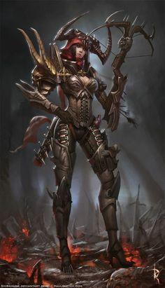 Valla Demon Hunter - Some badass diablo art!