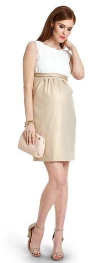 Inspiration платье из комбинированной ткани для беременных и кормящих