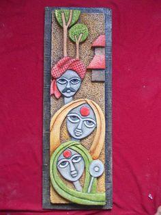 "Mural Art by Datta Vaidya: SIPOREX CARVING 36""x12""- 11000 NAME PLATE…"