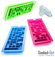 Tetris-inspired ice cube trays...that is awesome