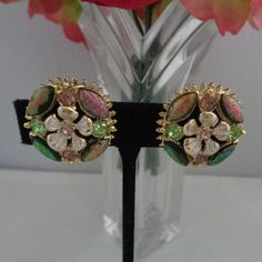 25% off coupon !  Florenza Multi Colored Rhinestone Round Earrings Set in Goldtone and Signed! Zoom In These are GORGEOUS! You can see these Florenza Signed Earrings in our store where we are offering 25% off. Use the coupon code 742016. www.CCCsVintageJewelry.com Have a great day or night where ever you are! Best, Coco