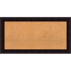 "Darby Home Co Hillandale Cork Bulletin Board Size: 26"" H x 50"" W x 0.88"" D"