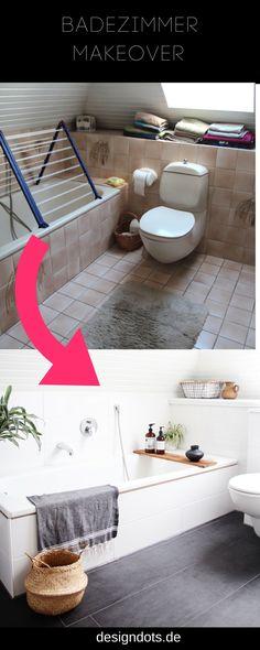 Mein Badezimmer   Vorher Nachher   Mit Fliessenaufkleber | New Home |  Pinterest