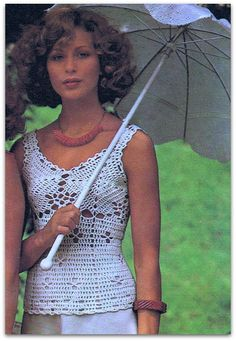 Camisole Crochet Pattern 1970's on Etsy by CooloRoonie on Etsy, $3.00