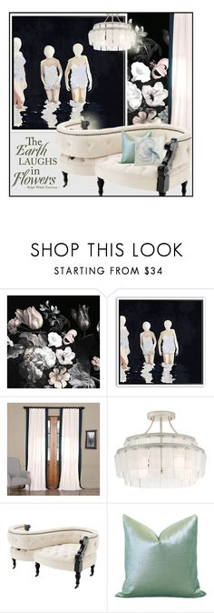 """""""Moonlight Gardens"""" by traunicorn ❤ liked on Polyvore featuring interior, interiors, interior design, home, home decor, interior decorating, Currey & Company, Eichholtz, Ethan Allen and vintage"""