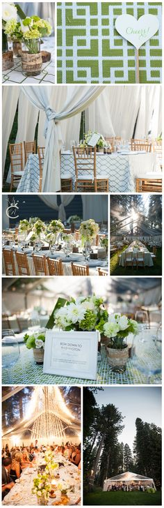 Check out the stunning decor at these Lake Tahoe, Guerneville and Bay area weddings. Lake Tahoe Weddings, Ivory Wedding, Carrie, Wedding Details, Wedding Colors, Birch, Tent, Dress Up, Candles