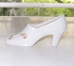 Small Vintage Porcelain High Heeled Pump Shoe by devatreasures, $5.00