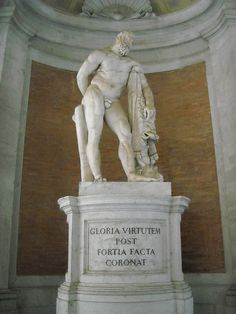 """The Royal Palace of Caserta - """"Hercules"""" - copy (1770-1773) by Andrea Violani from """"Hercules Farnese"""""""