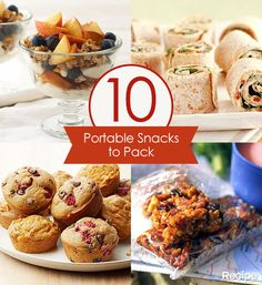 10 Portable Snacks to Pack for Family Road Trips, Vacations, and Outdoor Activities Road Trip Snacks, Lunch Snacks, Road Trips, Food To Go, Food And Drink, Car Food, Portable Snacks, Snack Recipes, Cooking Recipes