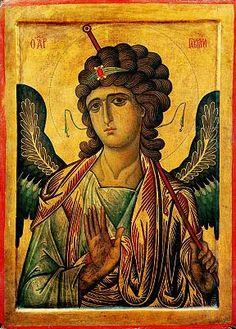 Icone do Arcanjo Gabriel, c. 1250 – século XIII Tempera e ouro sobre painel de madeira, 105 x 75 cm Sacro Monastério de Santa Catarina, Monte Sinai, Egito Metropolitan Museum of Art, Nova York