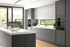 The Rule for Grey Kitchen Ideas Gray cabinets build anticipation for some other facets of the kitchen. Modern gray cabinets show a high degre. Kitchen Design Characteristics of Grey Kitchen Ideas Grey Kitchen Interior, Grey Kitchen Designs, Kitchen Room Design, Grey Kitchens, Modern Kitchen Design, Kitchen Layout, Small Kitchens, Modern Kitchens, Diy Interior