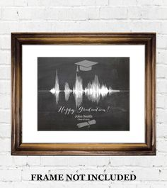 unique graduation gift ideas, custom sound wave voice recording personalized for college grad or high school senior,