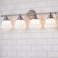 Milk Glass Bath Light - 4 Light