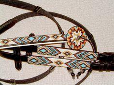 custom beaded horse tack