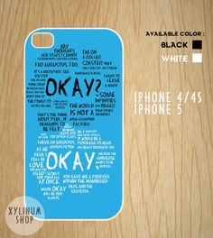 The Fault in Our Star, TFIOS quotes Case Available for Iphone 4,iphone 4s case,iphone 5 case and Samsung Galaxy S3 and S4 case on Etsy, $15.00