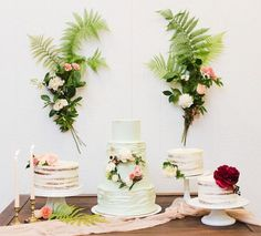Pink + green botanical dessert display. That's all we need to say