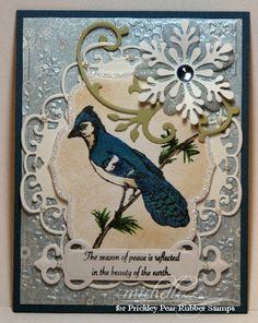 Prickley Pear Rubber Stamps: Sketched Blue Jay, Cardinal Clearly Beautiful Rubber Stamps