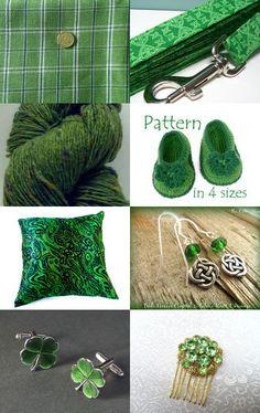 Irish Green by Carmen Cristal on Etsy--Pinned with TreasuryPin.com