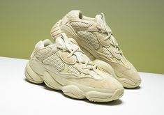 """The original adidas Yeezy 500 colorway is due for a proper release this summer. Find out when you can cop the adidas Yeezy 500 """"Super Moon Yellow"""". Best Sneakers, Vans Sneakers, Sneakers Fashion, Converse, Yeezy Boost 500, Yeezy 500, Arte Hip Hop, Sneaker Bar, Man Dressing Style"""