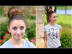 Love that you can wear this hairstyle to the gym OR work and school.  Great transitional hairstyle.  #CGHFanBun #cutegirlshairstyles #hairstyles #hairstyle #fanbun #bunhairstyle