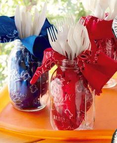 New party themes summer mason jars ideas Fête Toy Story, Toy Story Baby, Toy Story Theme, Toy Story Birthday, Cowboy Birthday Party, Cowboy Party, 3rd Birthday Parties, 2nd Birthday, Birthday Ideas