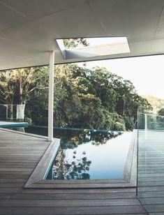 Geometric pool with views in Australia