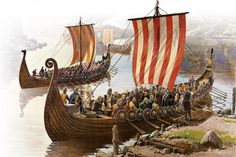 The technological innovation in Scandinavian ship building gave the Vikings the tactical superiority they needed to raid and subdue. Viking Life, Viking Art, Viking Warrior, Bracelet Viking, Viking Jewelry, Ancient Jewelry, Valhalla, Viking Books, Germanic Tribes