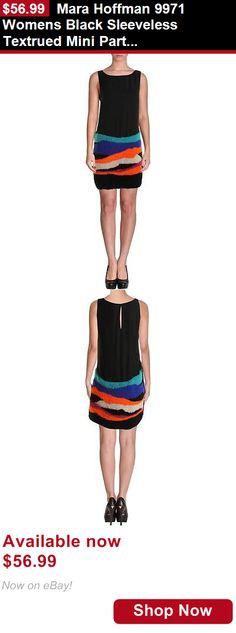 Women clothing: Mara Hoffman 9971 Womens Black Sleeveless Textrued Mini Party Dress S Bhfo BUY IT NOW ONLY: $56.99