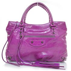 BALENCIAGA Chevre Purse in Magenta.  Such an amazing color- even brighter in real life!