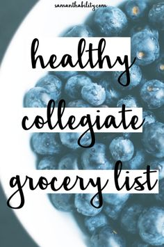 Healthy collegiate grocery list. This list is perfect for college students…