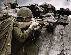 Soviet soldier fighting in the village on the outskirts of Bogushevsky 1944 | Flickr - Photo Sharing!