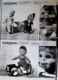 Boneco Feijãozinho imagem catálogo da Estrela de 1976:       Super fofos maleáveis e laváveis bonecos da coleção Feijãozinho:          ...