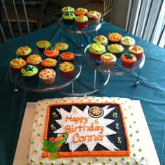 Laser Tag birthday cake - idea that uses much less black icing