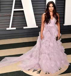 102Awesome Oscars Weekend OutfitsYou Didn't See - but Can't Miss - Demi Lovato in Monique Lhuillier