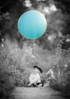 Black And White Color Splash Photography Balloon