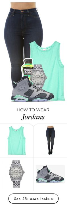 """Untitled #439"" by kayykayy15 on Polyvore featuring Victoria's Secret, Rolex and NIKE"