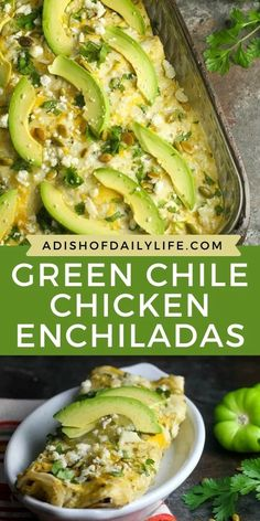 Replace sour cream with Greek yogurt in this delicious Creamy Green Chile Chicken Enchiladas recipe for a healthier version. You'll never notice the difference!